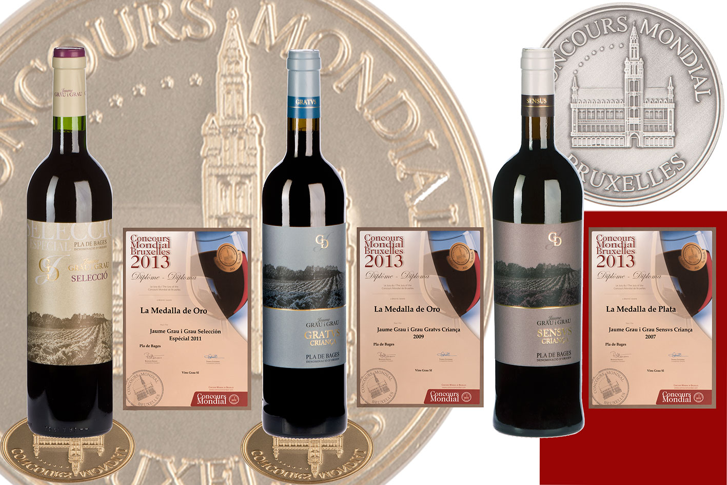 Vins Grau is awarded in the Concours Mondial de Bruxelles 2013